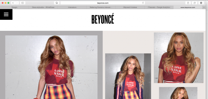 beyonce wordpress site