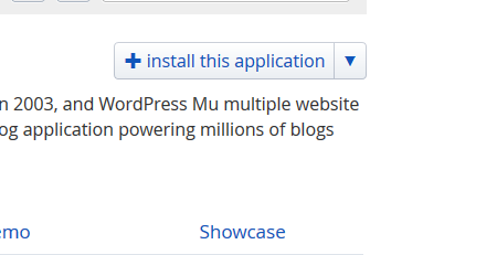 installatron wordpress install